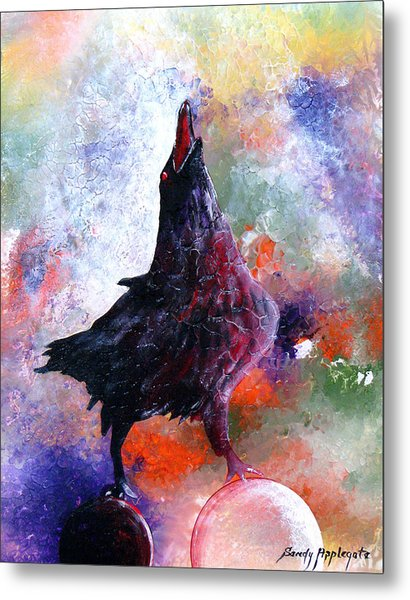 Quothe The Raven Metal Print by Sandy Applegate