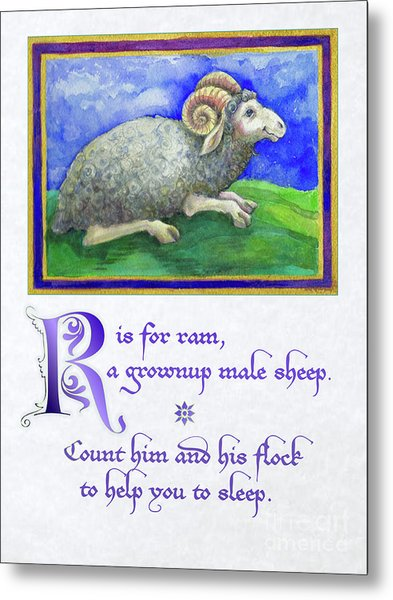 R Is For Ram Metal Print