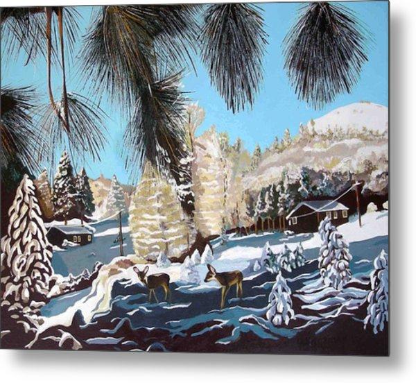 R-ranch In The Winter Metal Print by Olga Kaczmar