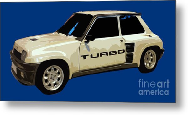 R Turbo Art Metal Print