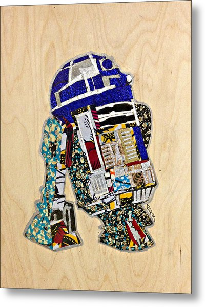 R2-d2 Star Wars Afrofuturist Collection Metal Print