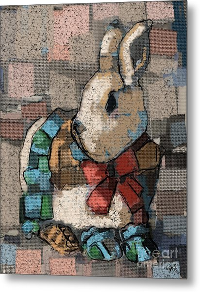 Rabbit Socks Metal Print