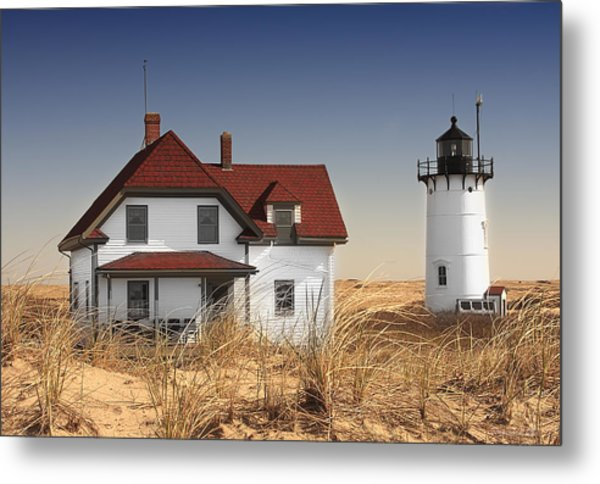 Race Point Lighthouse Cape Cod Metal Print by Dapixara Art