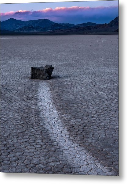 Race Treak Playa Metal Print by Peter McCracken