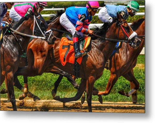 Racing Tight Metal Print