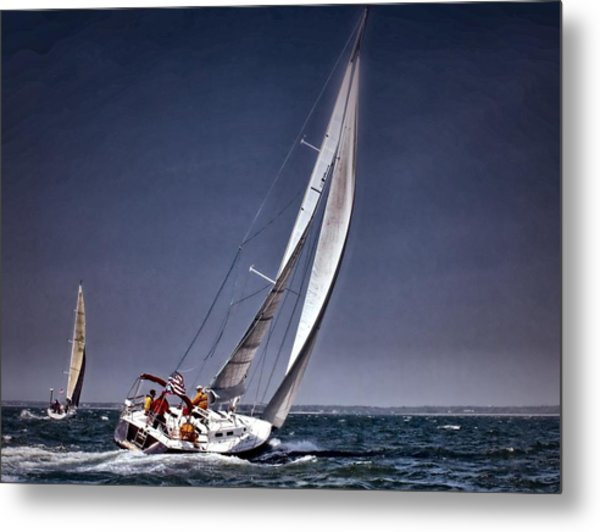 Racing To Nantucket Metal Print