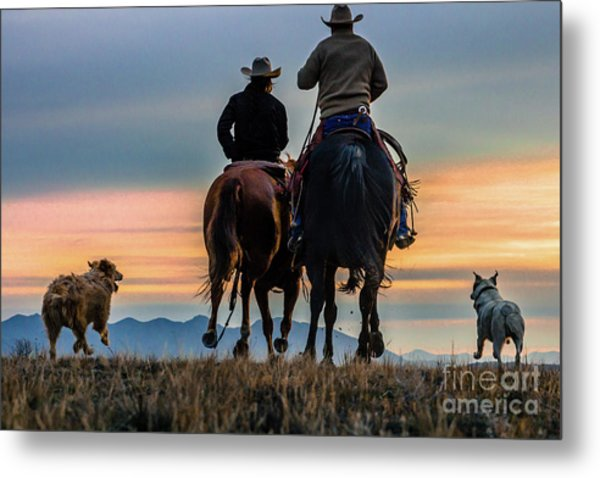 Racing To The Sun Wild West Photography Art By Kaylyn Franks Metal Print