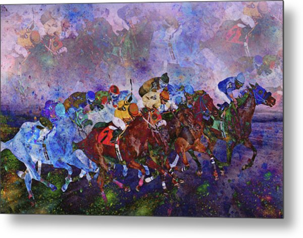 Racing With Ghosts Metal Print