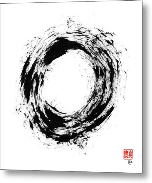 Radiant Light Enso Metal Print