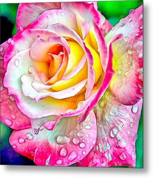 Radiant Rose Of Peace Metal Print