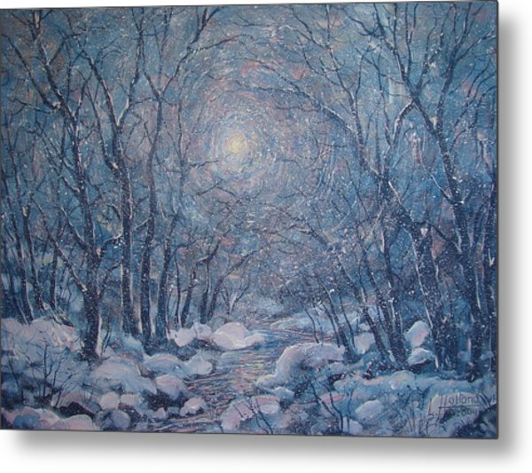 Radiant Snow Scene Metal Print