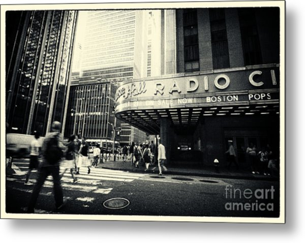 Radio City Music Hall Manhattan New York City Metal Print