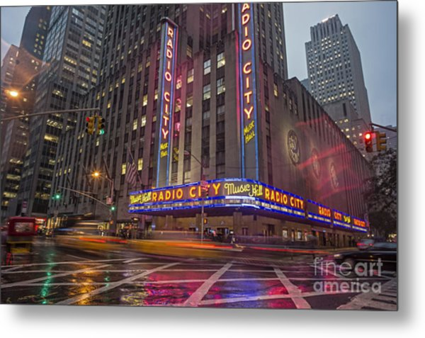 Metal Print featuring the photograph Radio City New York  by Juergen Held