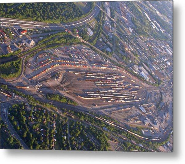 Radnor Rail Yard - 1 Metal Print by Randy Muir