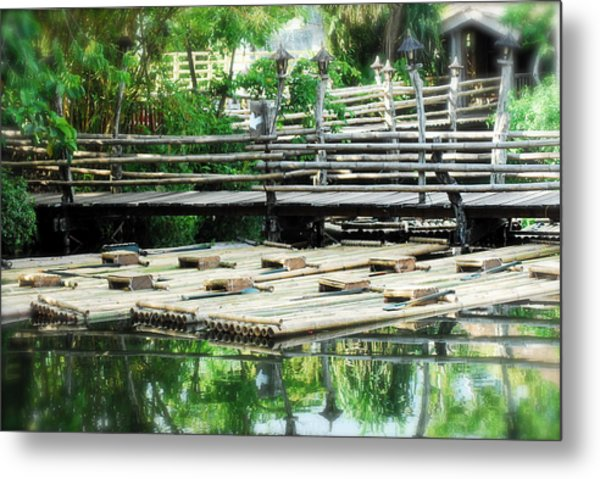 Rafts At Rest Metal Print