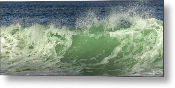 Raging Aqua Sea Metal Print by Paula Porterfield-Izzo