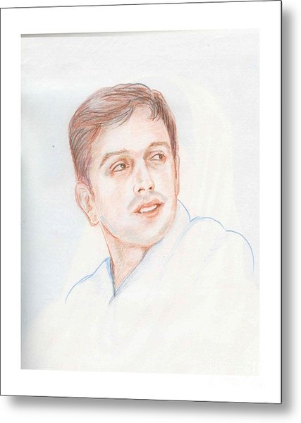 Rahul Dravid  Indian Cricketer Metal Print