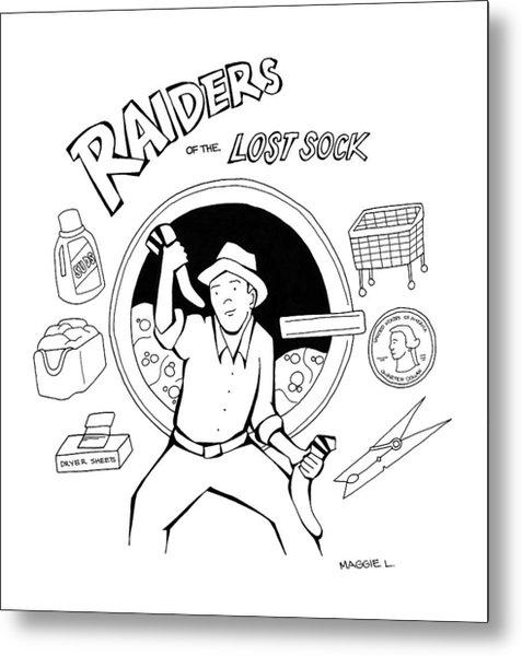 Raiders Of The Lost Sock Metal Print