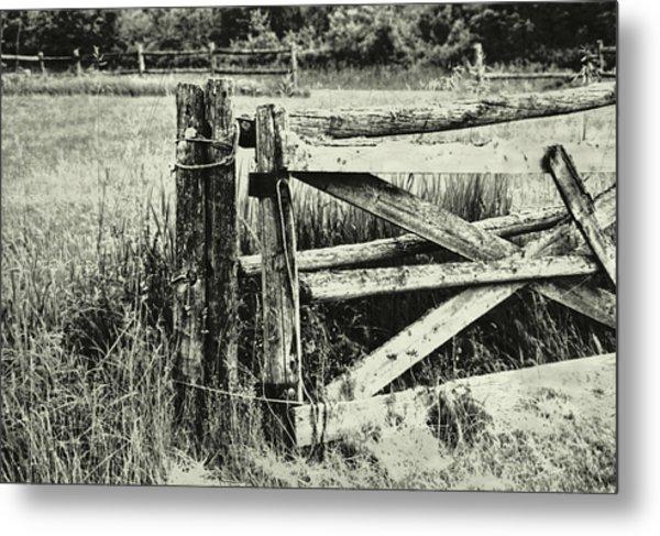 Rail Fence Metal Print by JAMART Photography