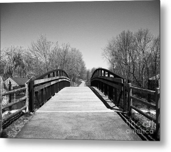 Rail Trail Bridge, Newburyport, Massachusetts Metal Print