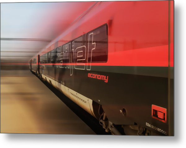 Railjet High Speed Train Metal Print