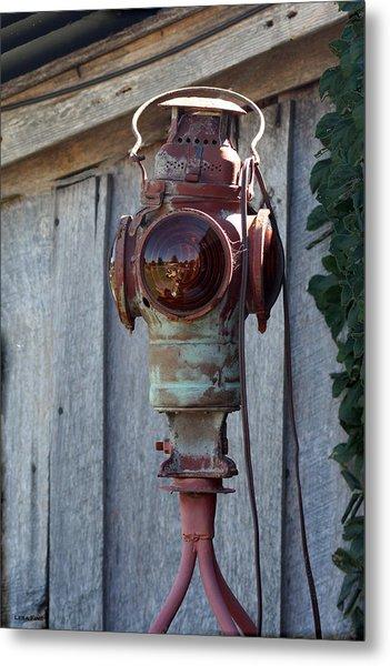 Railroad Light  Metal Print