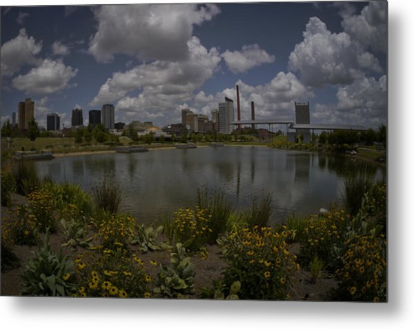 Railroad Park Skyline Metal Print