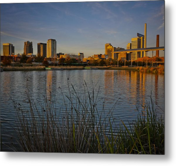Railroad Park Twilight Metal Print
