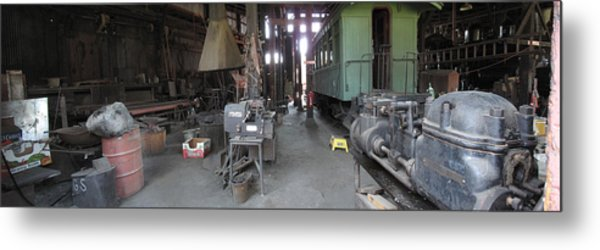 Railroad Shop Metal Print by Larry Darnell