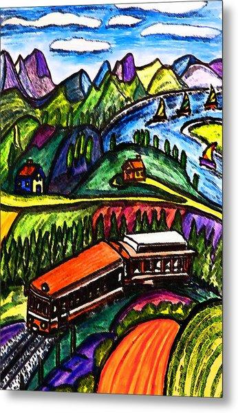 Railway Express Metal Print by Monica Engeler