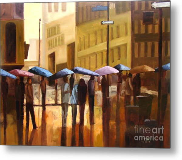 Rain In Manhattan Number Seventeen Metal Print