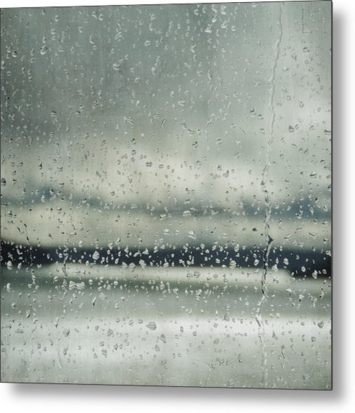 Metal Print featuring the photograph Rain Layers by Sally Banfill