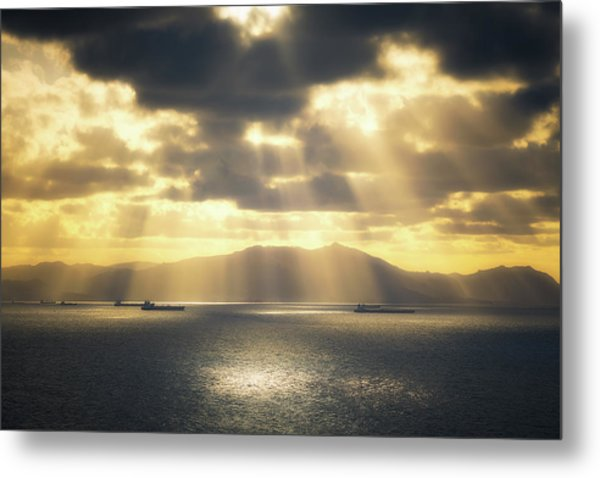 Rain Of Light Metal Print