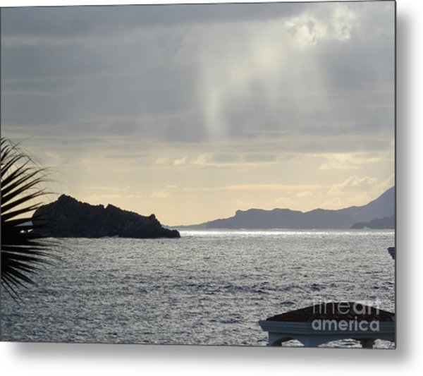 Rain Over Pelican Key Metal Print