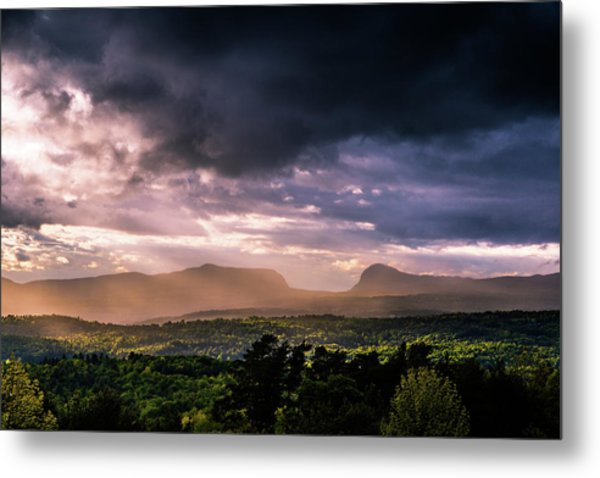 Rain Showers Over Willoughby Gap Metal Print