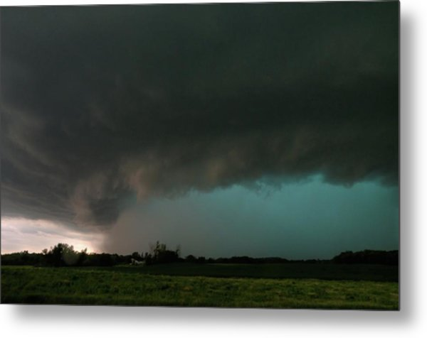 Rain-wrapped Tornado Metal Print
