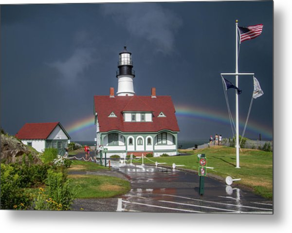 Rainbow After The Storm Metal Print