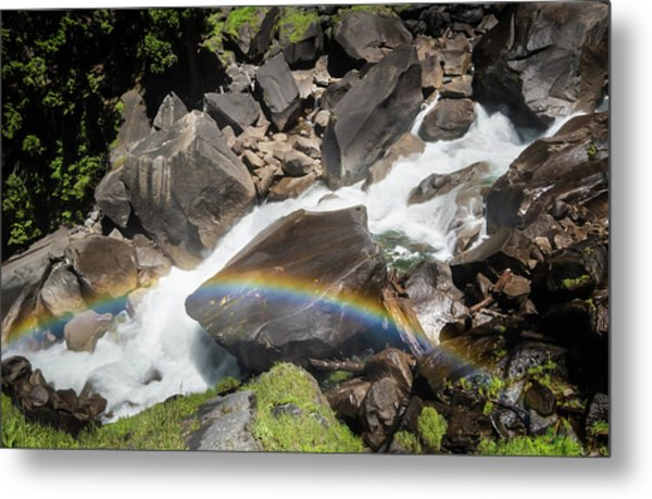 Rainbow At Vernal Falls- Metal Print