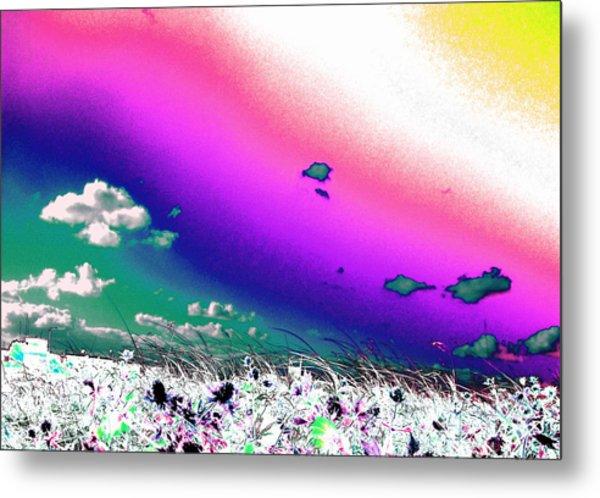 Rainbow Borealis Metal Print