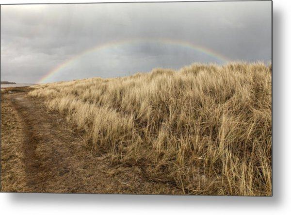 Rainbow By The Seaside Metal Print