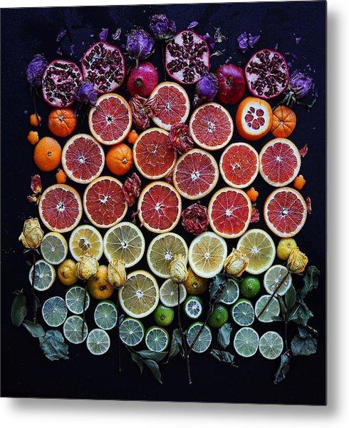 Rainbow Citrus Etc Metal Print