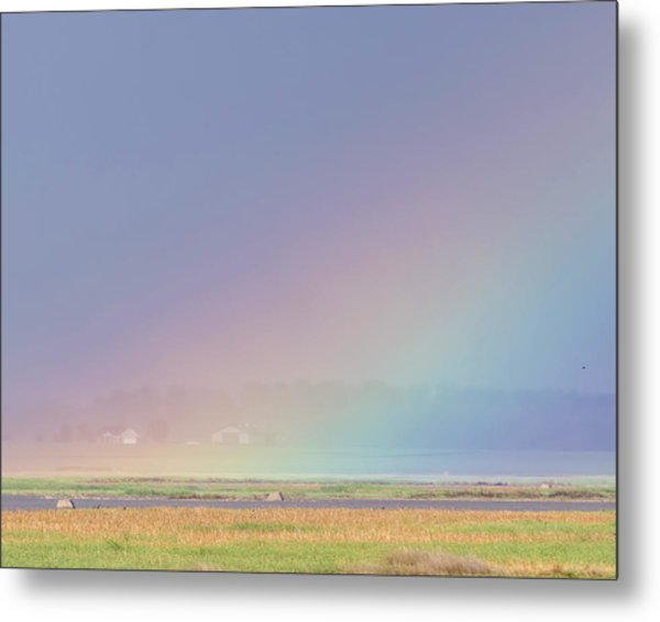 Rainbow Close Up Metal Print