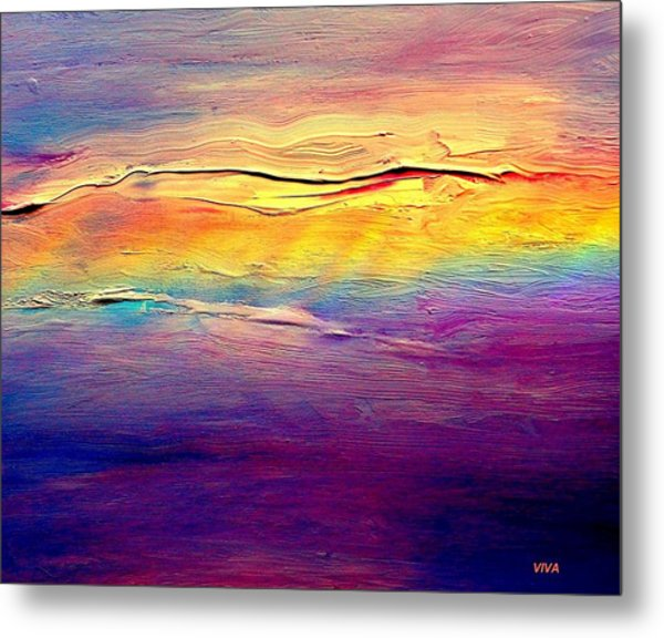 Rainbow Clouds Full Spectrum -dedicated                     Metal Print