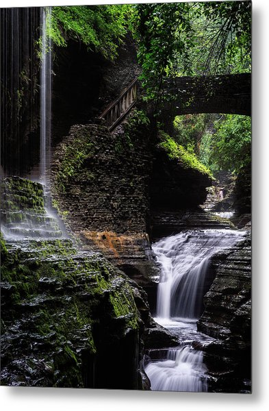 Metal Print featuring the photograph Rainbow Falls by Edgars Erglis
