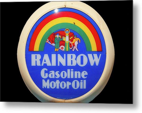 Rainbow Gasoline Metal Print