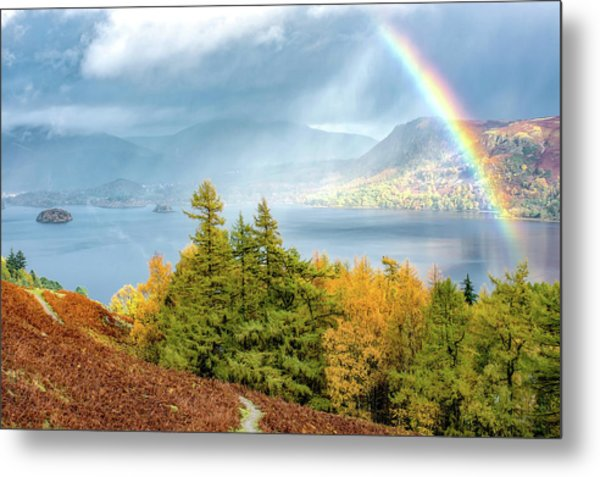 Rainbow Gold Metal Print