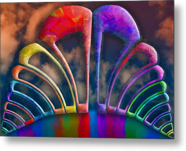 Rainbow Hill Metal Print