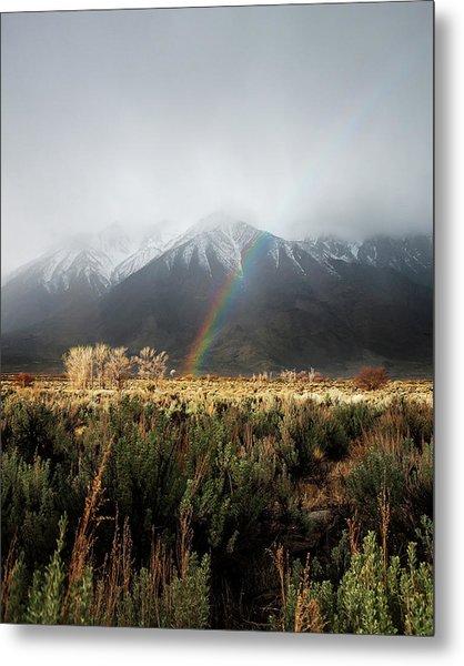 Rainbow In Eastern Sierra Nevadas Metal Print