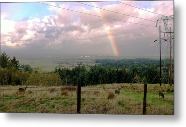 Rainbow Into The Pacific Metal Print
