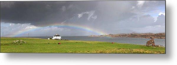 Rainbow, Island Of Iona, Scotland Metal Print